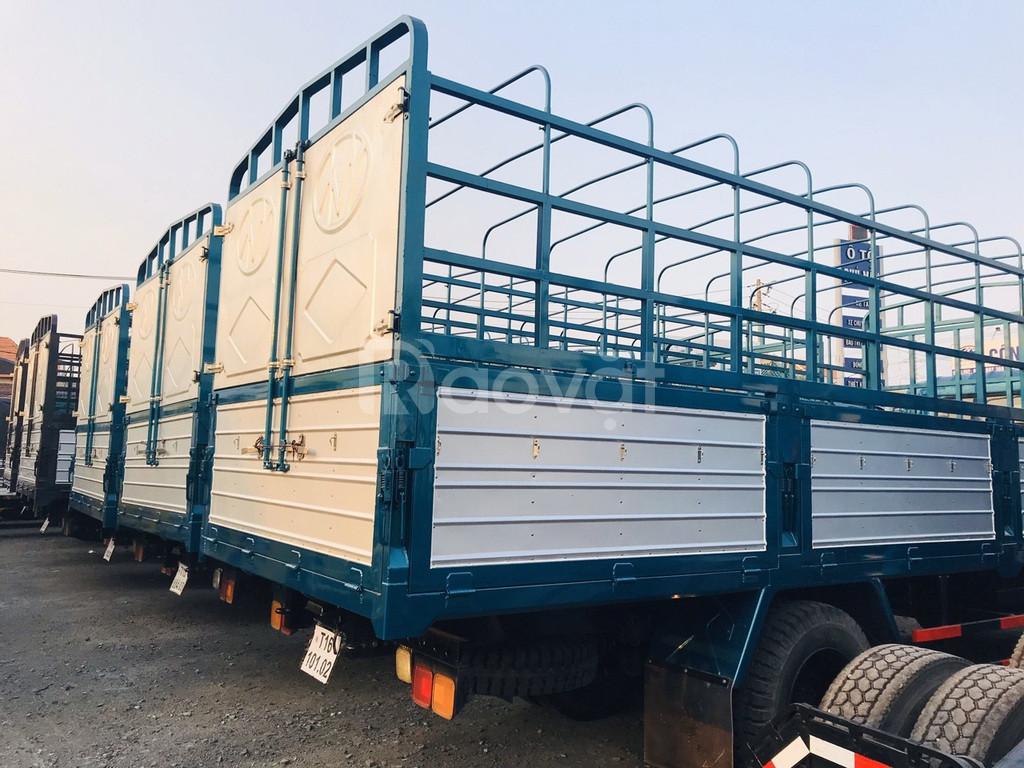 xe tải chiến thắng 6t5 cabin đôi , thắng hơi lốc kê chuyên chở quá tải