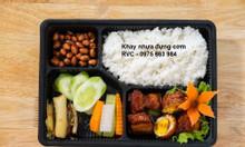 Phân phối sỉ lẻ khay nhựa đựng cơm dùng 1 lần tại quận 6, 8, 12