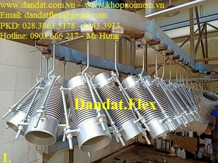 Ống nối bù trừ giản nở, khớp nối giản nở inox, khớp giãn nở inox 304