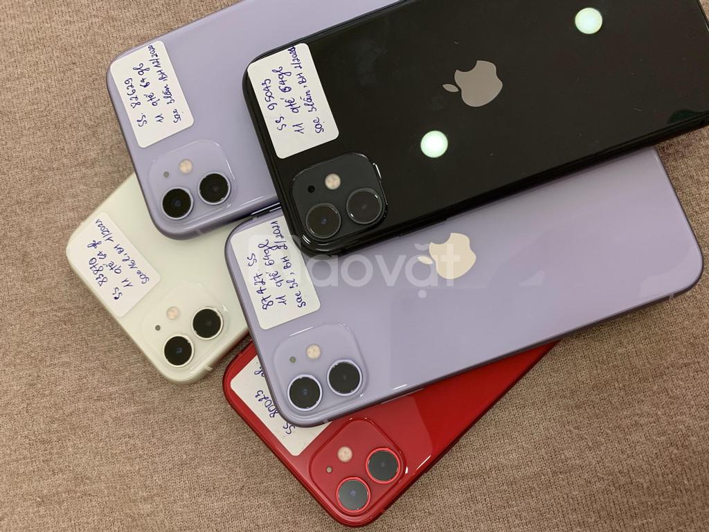 Điện thoại iphone 11 quốc tế 64gb hàng sạc 3 lần, nguyên bản, đẹp
