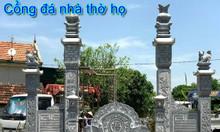 Mẫu cổng đá nhà thờ họ- cổng từ đường đẹp bằng đá tại Thái Nguyên