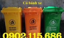 Thùng rác nhựa 120l, thùng rác nhựa 240l, thùng rác 120l có bánh xe