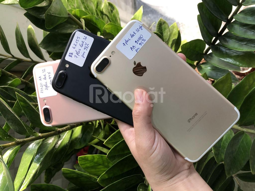 Điện thoại iphone 7plus lock 32gb hàng keng, nguyên áp, như mới
