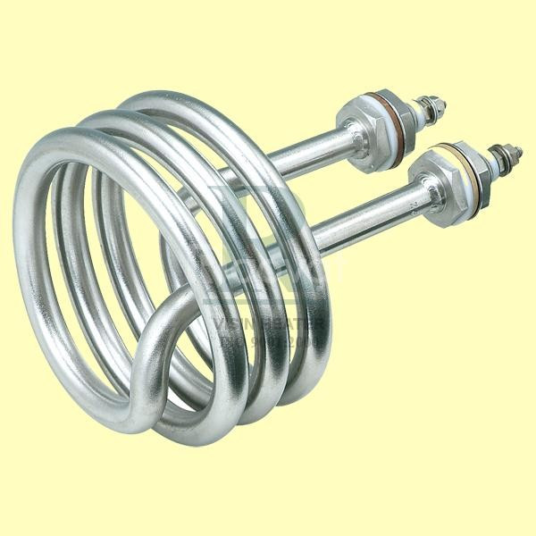 Điện trở đun nước dạng xoắn ốc.