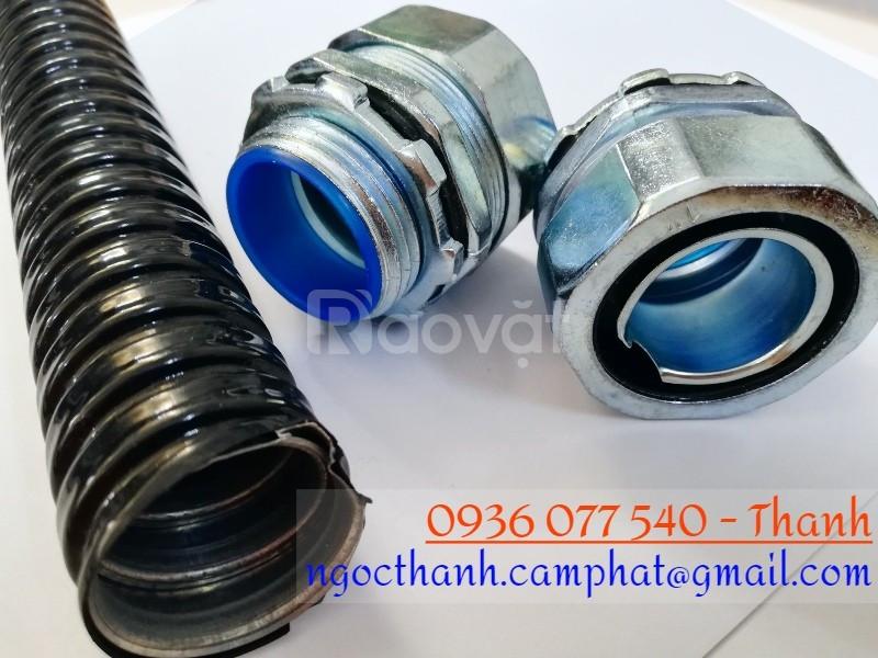 Ống ruột gà 1/2'' (phi 20), ID16 - OD19, ống kẽm đàn hồi bọc nhựa PVC