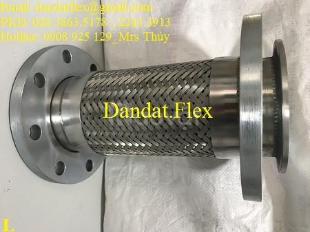 Ống nối mềm chống rung mặt bích, khớp nối mềm mặt bích inox/thép