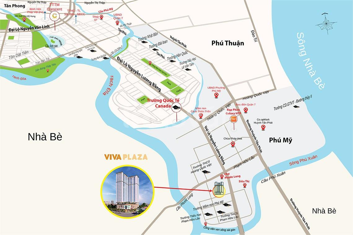 Bán căn hộ 2 mặt tiền Nguyễn Lương Bằng quận 7 chỉ 43 triệu/m2.