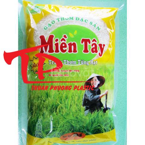 Túi đựng gạo 1kg, 2kg PA/PE