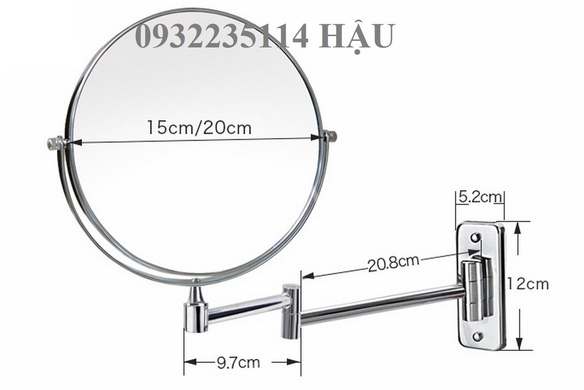 Gương xoay 360 độ, gương phóng đại gắn tường, gường để bàn