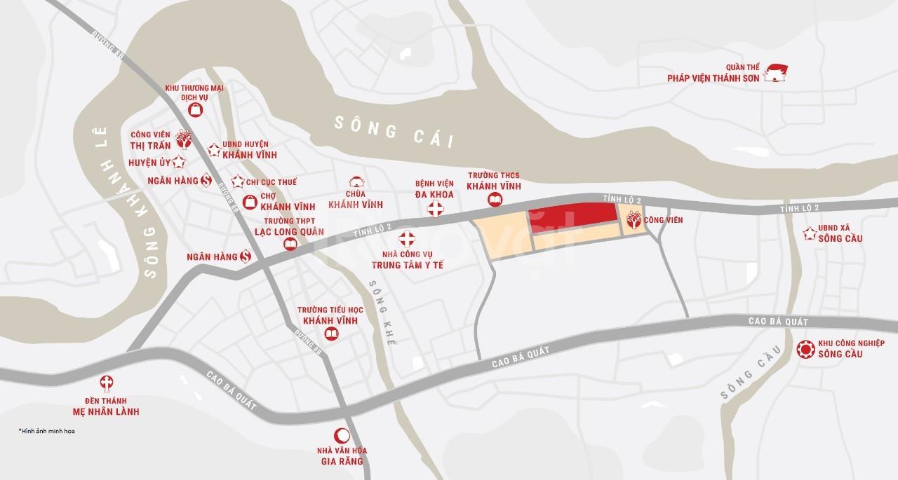 Nhà phố đô thị liền vườn ven sông TT Khánh Vĩnh