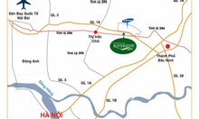 Đất nền Yên Phong Bắc Ninh mặt đường tỉnh lộ 286, sổ đỏ lâu dài