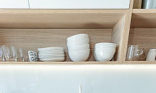 Tủ bếp màu xanh da trời - báo giá thi công tủ bếp