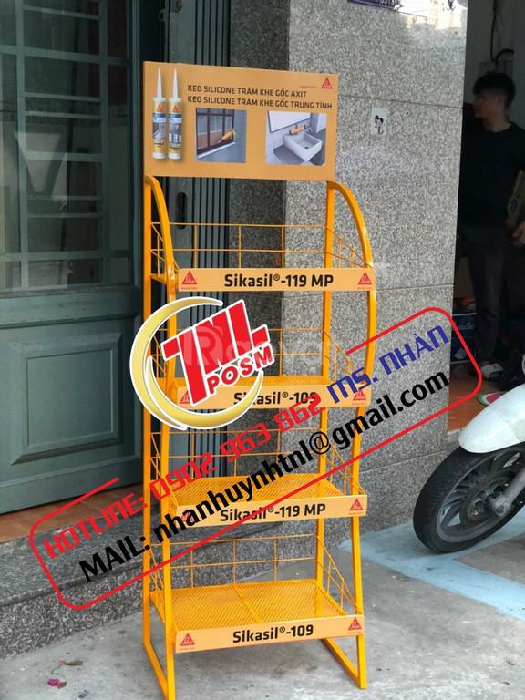 Kệ sắt quảng cáo, kệ sắt trưng bày sản phẩm