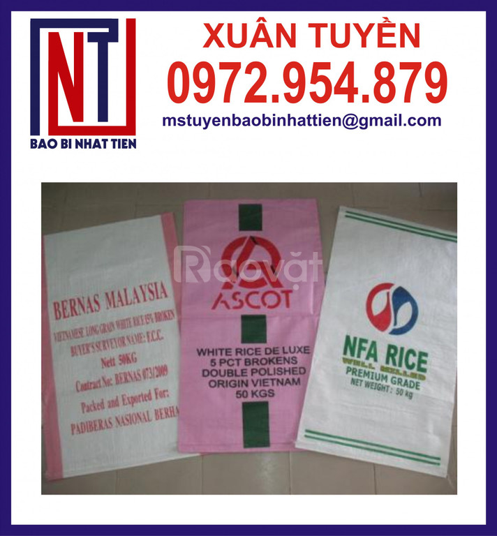 Chuyên cung cấp bao bì gạo 50kg