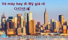 Vé máy bay giá rẻ đi Mỹ Qatar Airways