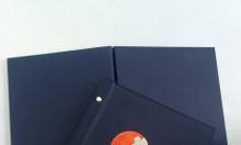 Cuốn menu bìa da, chuyên làm bìa menu, bìa folder da in logo