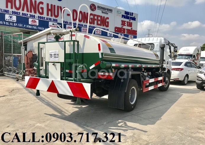 Bán xe bồn 5 khối DongFeng chở nước tưới cây rửa đường