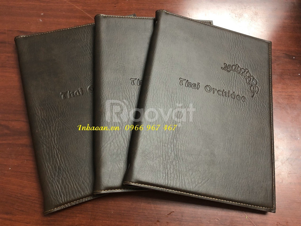 Bán quyển menu da có sẵn, in quyển menu nhà hàng, thiết kế bìa da