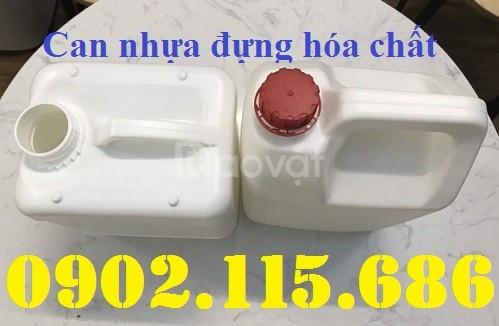 Can nhựa 5l, can đựng hóa chất