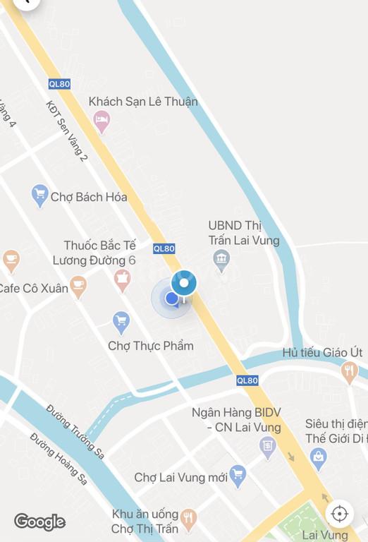 Bán nhà tại chợ Thị Trấn Lai Vung - Đồng Tháp, mặt tiền Quốc lộ 80.