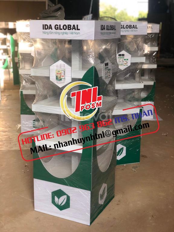 Quầy kệ, tủ trưng bày sản phẩm - Kệ ván MDF - Sản xuất POSM