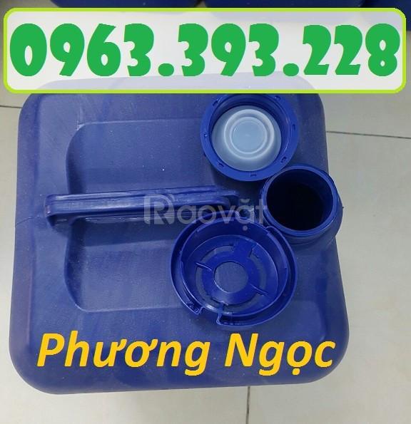 Can nhựa vuông đựng hóa chất, can nhựa 20 Lít, can nhựa loại dày