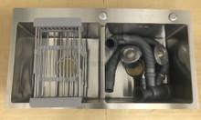 Bồn rửa chén inox 2 ngăn vuông Thủ Đức, Quận 9