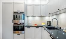 Tủ bếp tân cổ điển gỗ công nghiệp - Đóng tủ bếp giá rẻ TP HCM