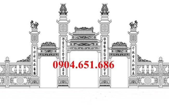 5 mẫu thiết kế cổng đá đẹp nhà thờ họ hợp phong thủy