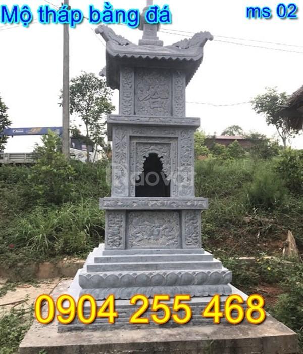 Xây tháp mộ để tro cốt bằng đá, mẫu mộ tháp đá đẹp giá rẻ nhất hiện na
