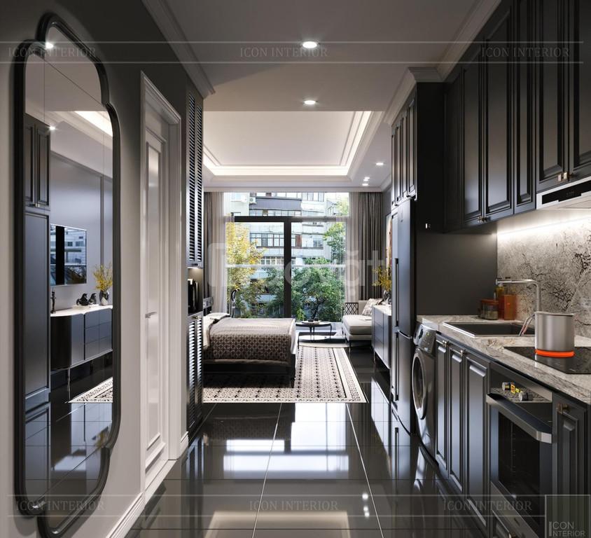 Thiết kế nội thất studio: Phong cách Đông Dương