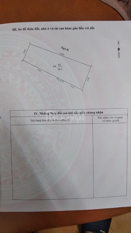 Bán Nhà đầu ngõ Văn Hương , Đống Đa , Hà Nội 5,8 tỷ, 35m2x5 tầng.