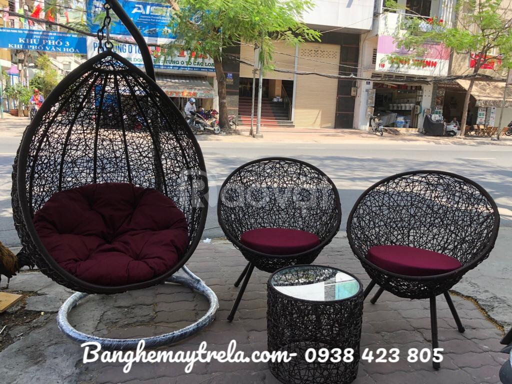 Bàn ghế ban công, bàn ghế đan rối
