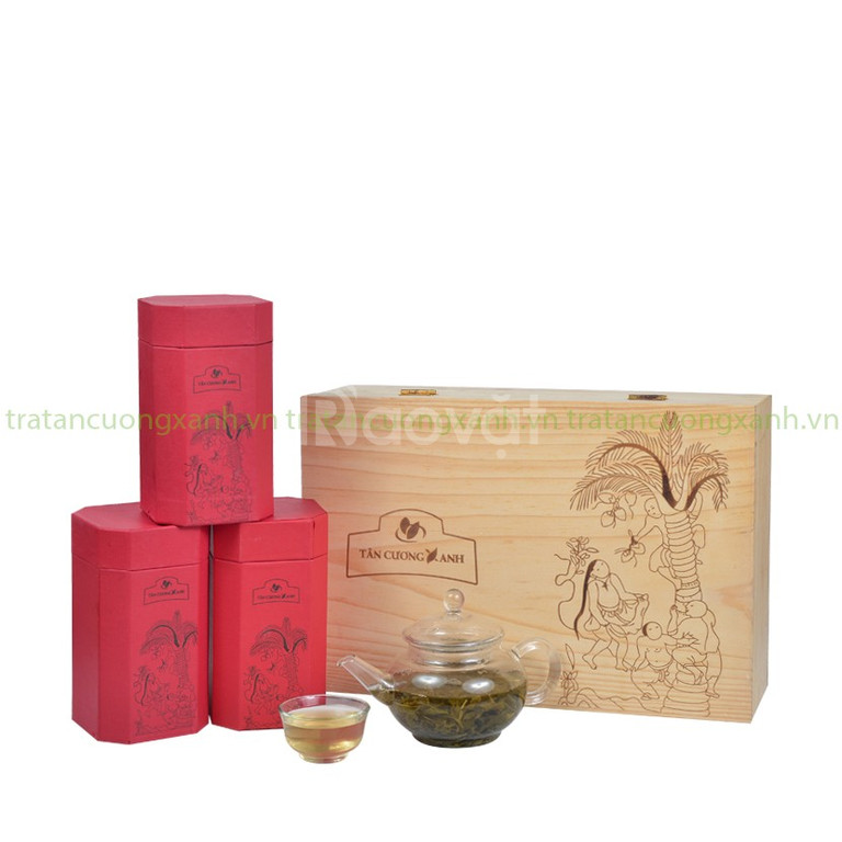 Trà Tân Cương hộp gỗ thông sk2 - 300g