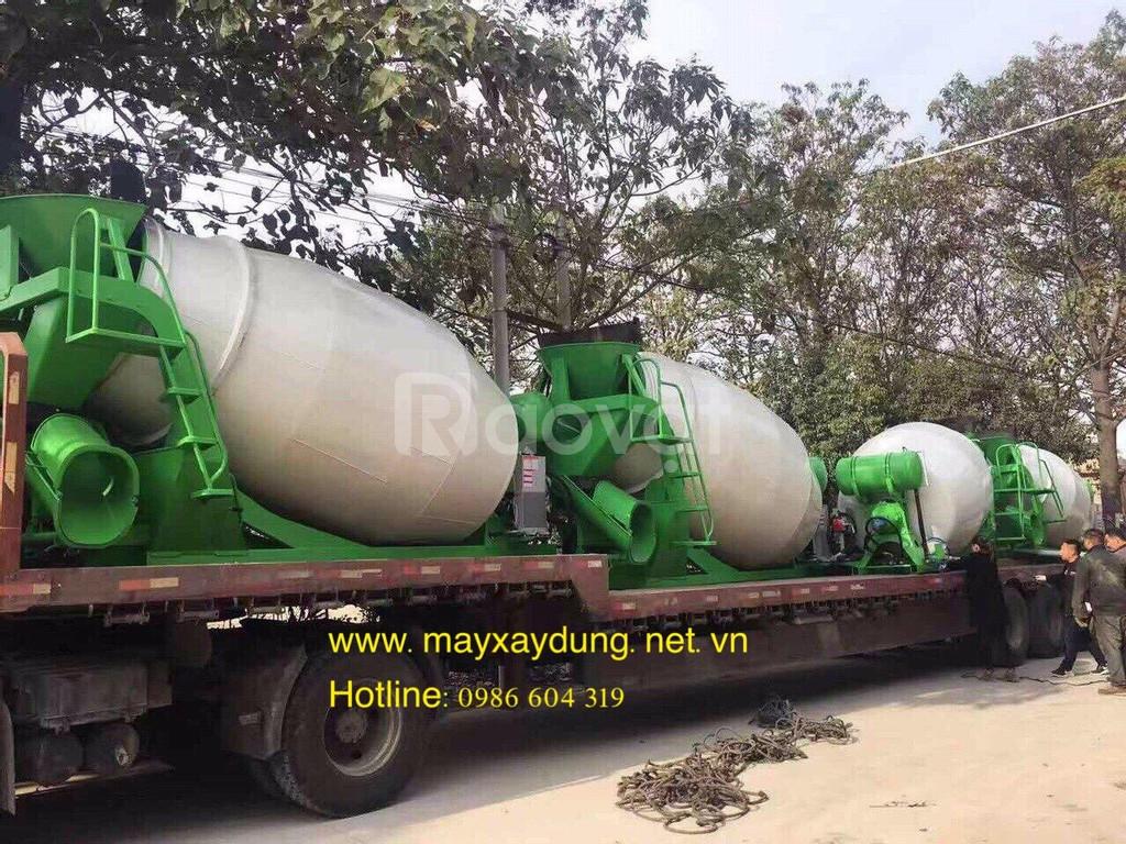 Bồn trộn bê tông 3 khối thủy lực nhập khẩu