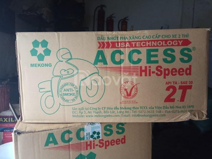 Dầu động cơ xăng Mekong Access 2T lon 1L