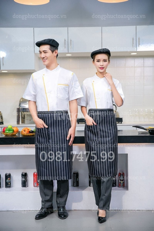 May đồng phục đầu bếp đẹp, liên tục tung ra nhiều mẫu mới