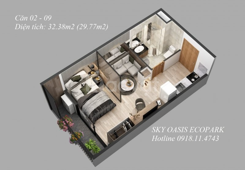 Chung cư Sky Oasis Ecopark HTLS 0% - CK 5% S:32-107m2 LH 0918114743