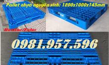 Pallet nhựa nguyên sinh, pallet chịu tải lớn, pallet dài 1,2m