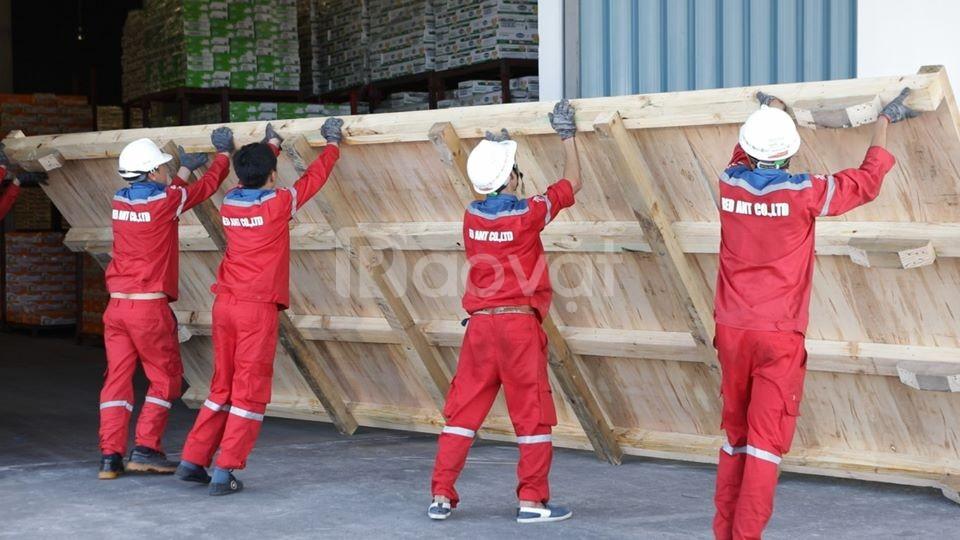 Đóng gói hàng hoá cho hàng xuất khẩu tại KCN Thăng Long 2