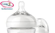 Bình sữa thuỷ tinh cao cấp Philips Avent mô phỏng tự nhiên, núm silico