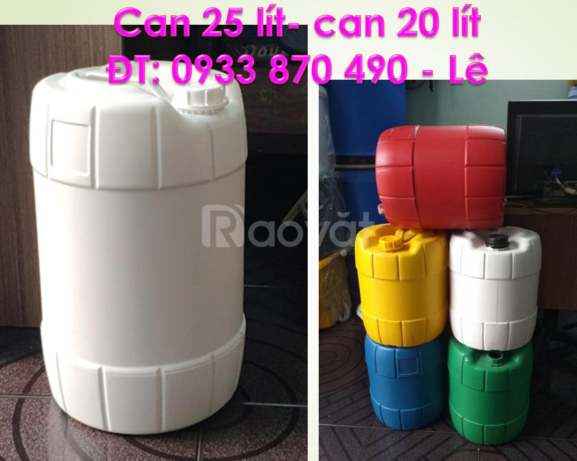 Can nhựa đựng hóa chất 25 lít, can nhựa 25 lít dày