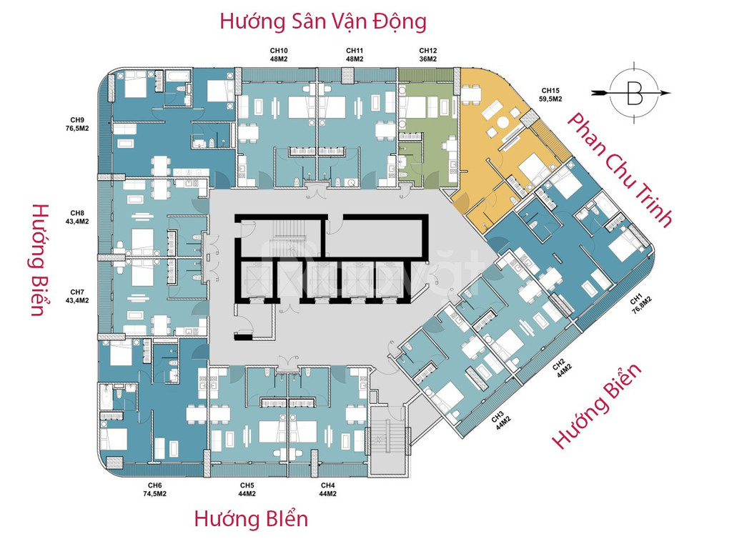 Bán căn hộ view biển Nha Trang đầy đủ tiện ích