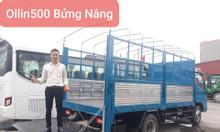 Bán xe tải thaco ollin500 thùng mui bạt bửng nâng