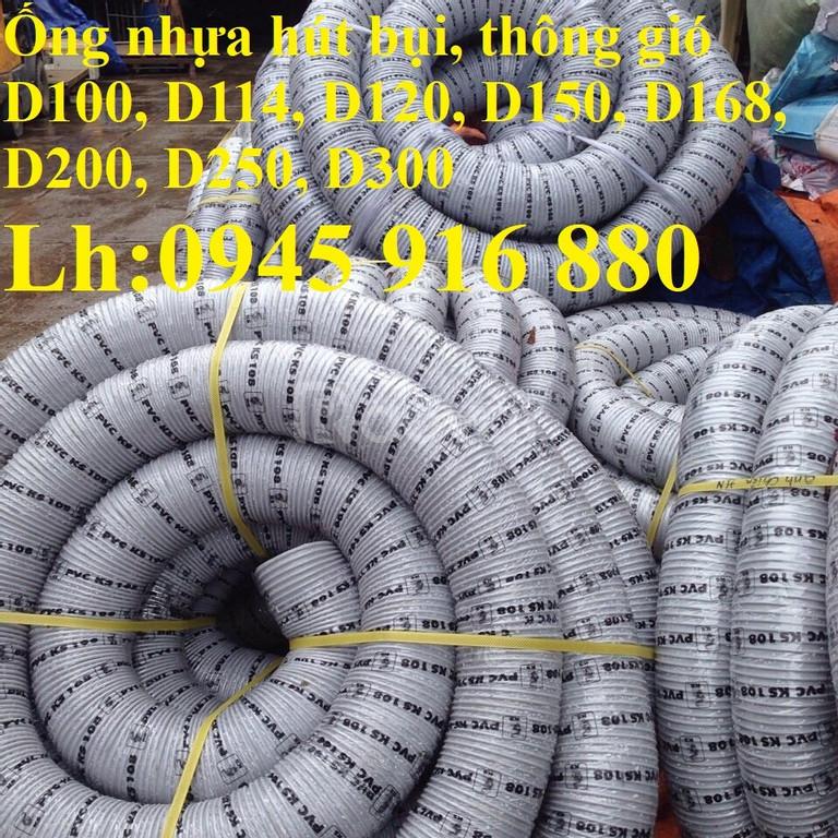Phân phối ống gân nhựa xoắn hút bụi D90, D100, D114, D120, D150
