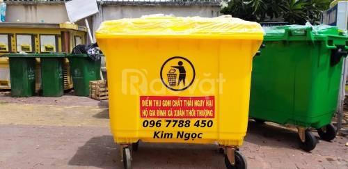 Thùng đựng rác các loại giá rẻ 120 lít, 240 lít, 660 lít