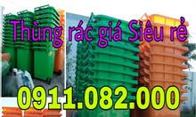 Sỉ lẻ thùng rác 240 lít giá rẻ tại đồng tháp- thùng rác nắp kín
