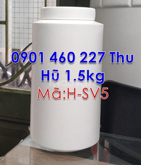 Hũ nhựa 250g nắp vặn,bán hũ nhựa 250g đựng bột màu trắng đục tại TPHCM