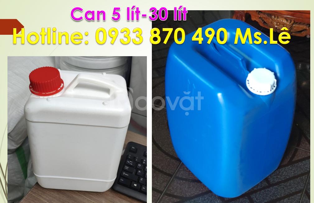 Can nhựa 5 lít dày, can nhựa 30 lít, can nhựa đựng hóa chất quận 10