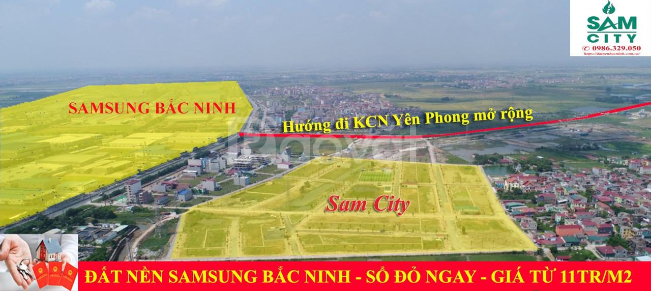 Đất nền KCN Samsung Yên Phong Bắc Ninh – dự án Sam City, đã có sổ